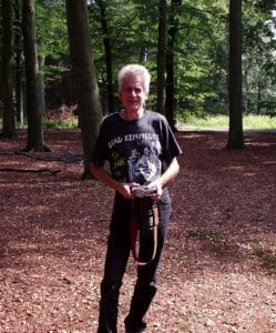 Harrie Baken, bos Oude Warande, kunst in 2004, foto Marja