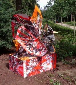 Peter Rogiers, zonder titel, 2004, staal en spuitverf, Lustwarande
