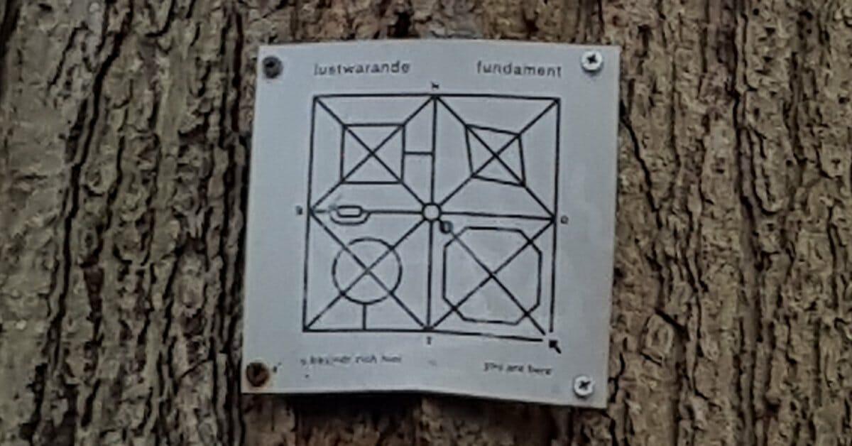 Oude Warande, Tilburg, kleine metalen plattegrond