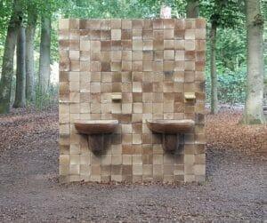 Daniel Dewar & Grégory Gicquel, 2016, Stoneware Mural with Sinks